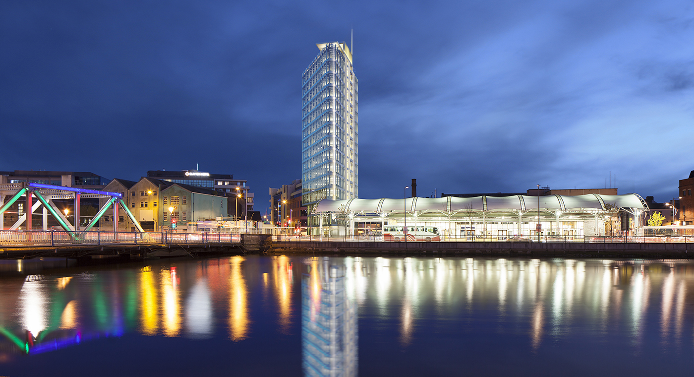 CGI Artist's Impression of Prism Building, Cork, Ireland